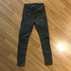 Just Black olive pants NWOT